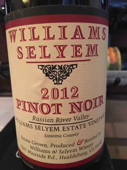 2012 Williams Selyem Estate Vineyard Pinot Noir Image