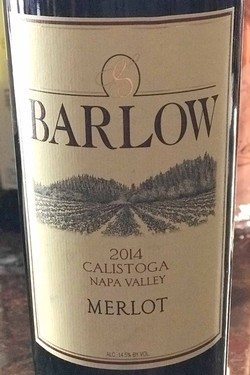 2014 Barlow Vineyards Merlot