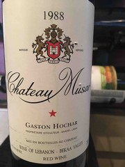 1988 Gaston Hochar Chateau Musar Rouge