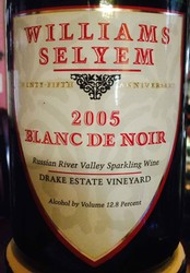 2005 Williams Selyem Blanc de Noirs Sparkling Wine (Magnum)